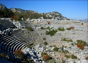 The Theater, ruins of Thermessus, Antalya