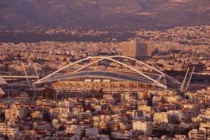 Panoramic view of the city of Athens