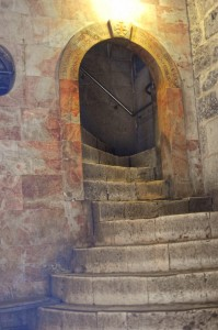 Stairway to the Golgotha at St. Stephan's Gate